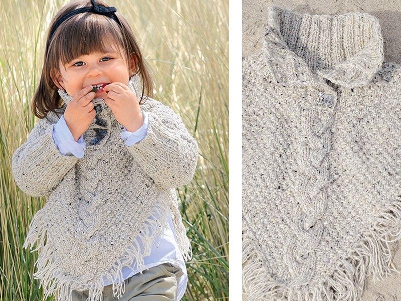 Вязание спицами пончо для девочек 3-5 лет 50