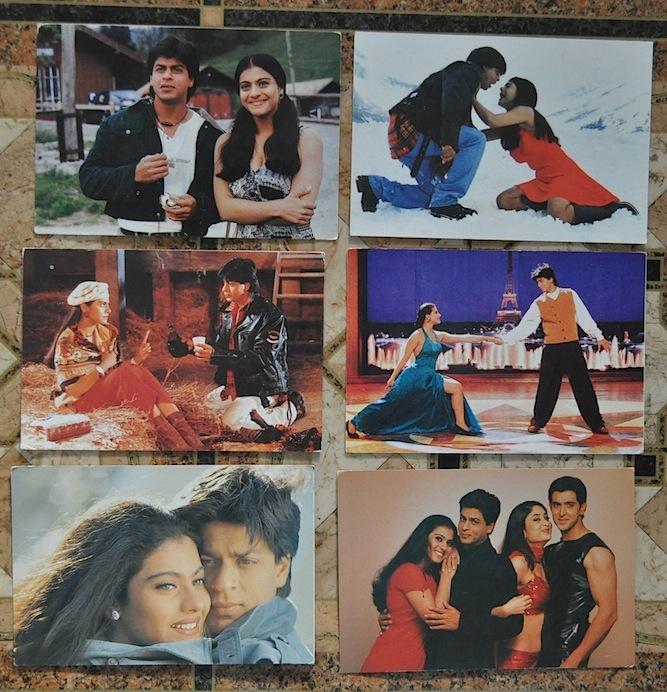 Индийские открытки с актерами 77
