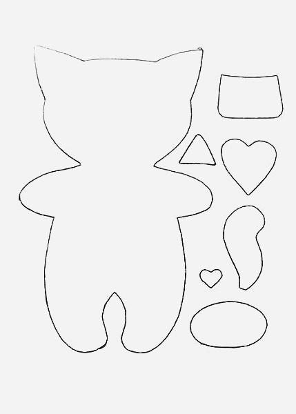Картинки защитники, шаблоны котиков из фетра