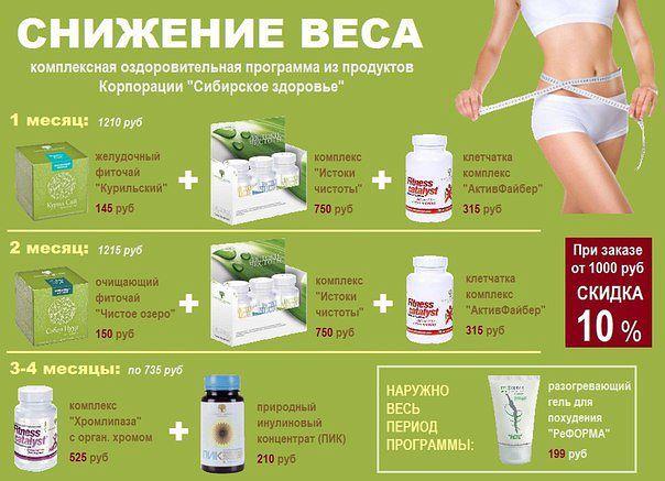 Программа похудения сибирское