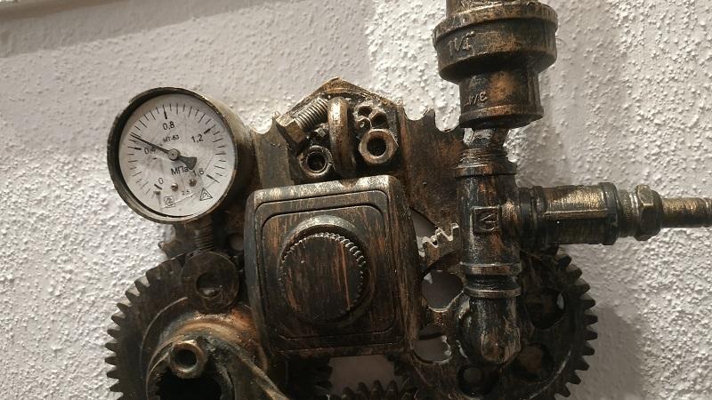 Светильник в стиле лофт, техно, стимпанк
